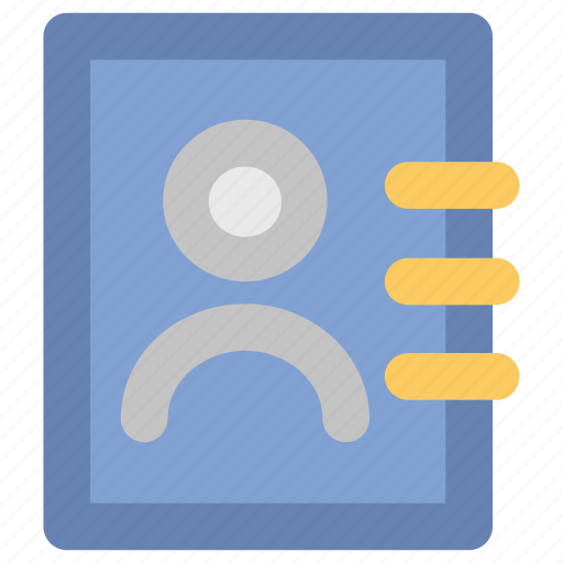 Address book, directory, guide, phone directory, phonebook, telephone directory, yellow pages icon - Download on Iconfinder