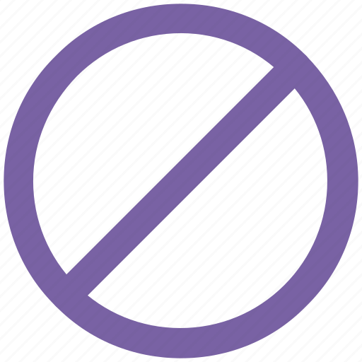 ban sign, disallowed, forbidden, limited, not allowed, prohibited, restricted icon