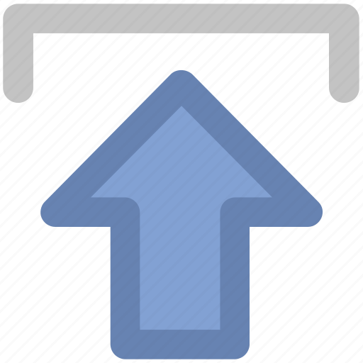 arrow, indicator, into, up sign, upload, uploading, upward icon