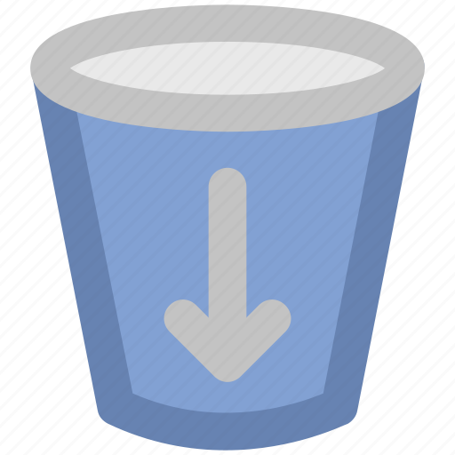 Alert, down arrow, glass, guide, hint, information, sign icon - Download on Iconfinder