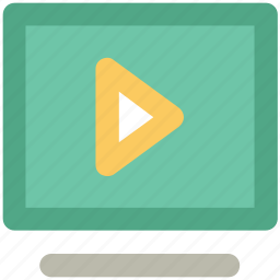media, media player, multimedia, play, play sign, screen, video icon
