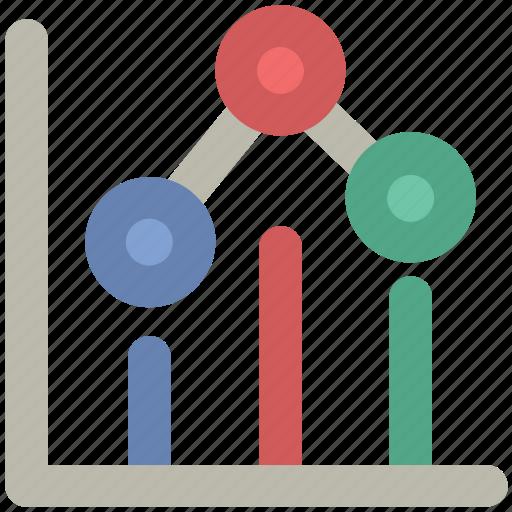 analysis, business chart, chart, decreasing chart, graph, loss, statistics icon
