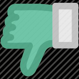 denied, dislike, hand down, negative symbol, no, rejected, thumb down icon
