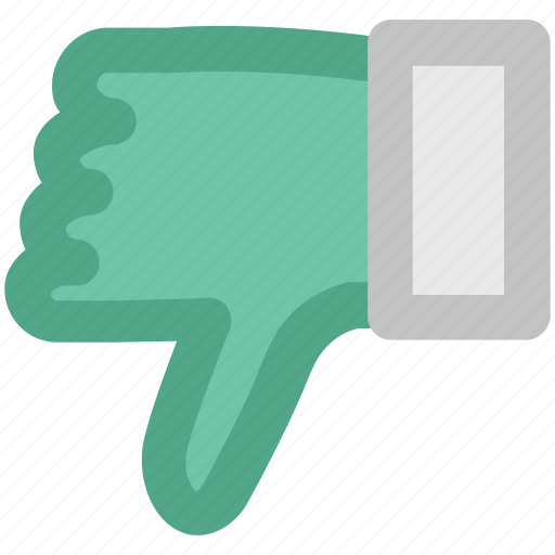 Denied, dislike, hand down, negative symbol, no, rejected, thumb down icon - Download on Iconfinder