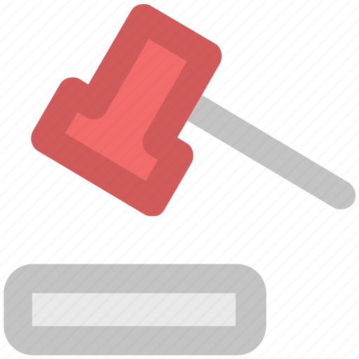 Auction, auction hammer, gavel, hammer, justice, mallet icon - Download on Iconfinder