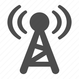 broadcast, communication, radio, tower, wireless icon