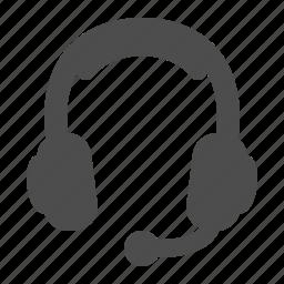 audio, headphones, headset, microphone icon