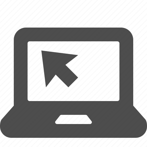 computer, cursor, laptop icon