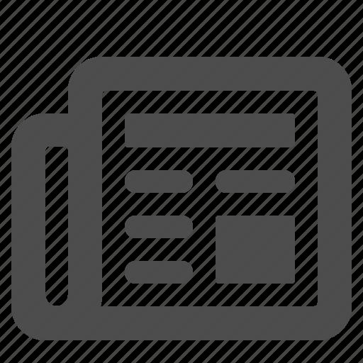 communication, news, newspaper icon