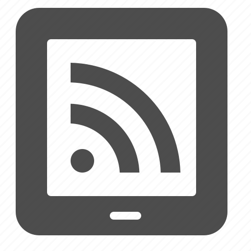 communication, feed, rss, tablet, wireless icon