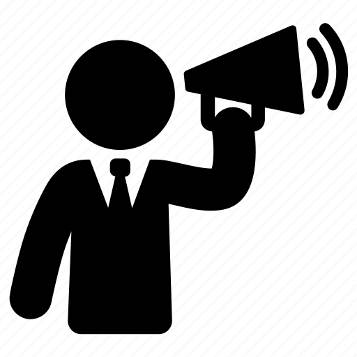 announcement, marketing, megaphone icon