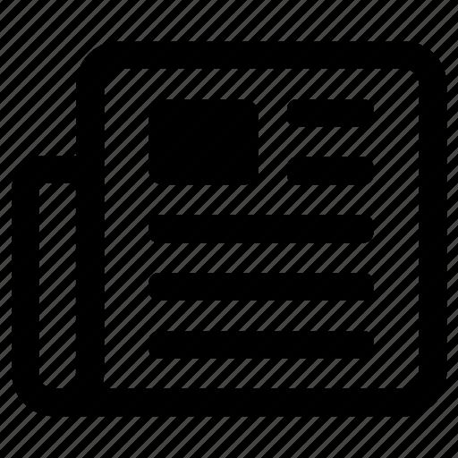 Communication, newsletter, newspaper icon - Download on Iconfinder