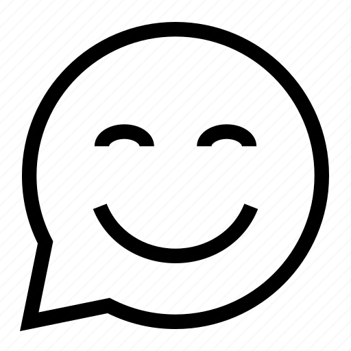 Bubble, chat, comment, message, smile, smiley, speech icon - Download on Iconfinder