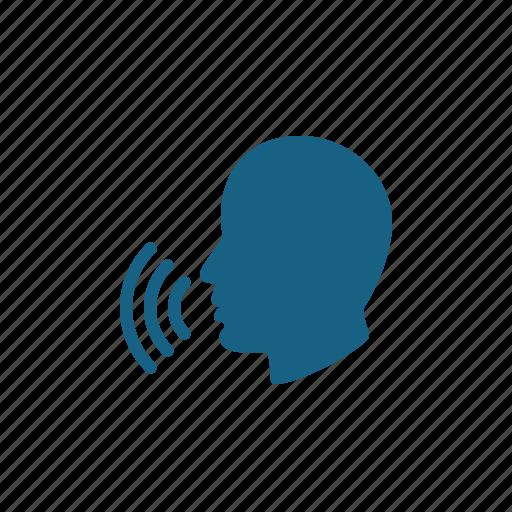 Head, man, speech, talking icon - Download on Iconfinder