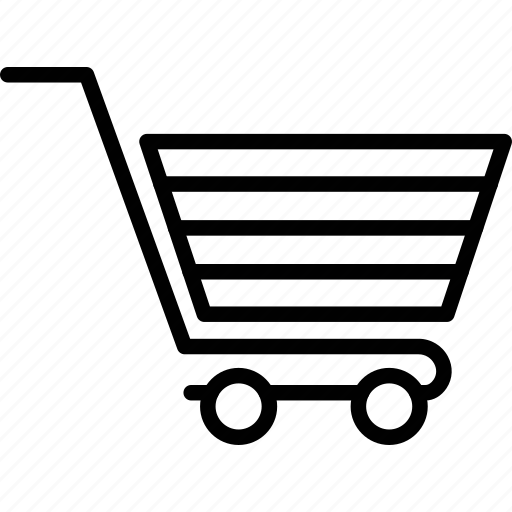 cart, shopping carriage, shopping cart, trolley icon