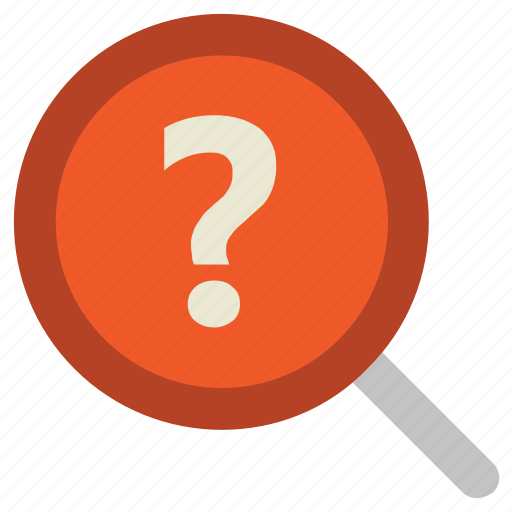Common answers, common questions, exploration, faq, magnification, magnifier, question mark icon - Download on Iconfinder