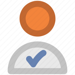 checkmark, confirmed account, user profile, validation, verified account, verify, web element icon