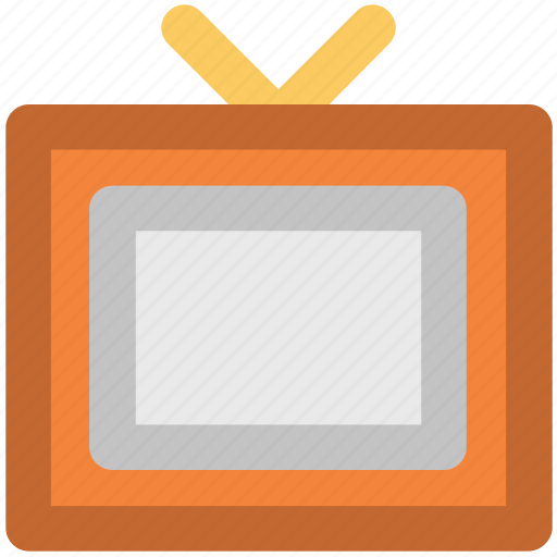 antenna, channel, electronic, retro tv, television, tv, tv set icon