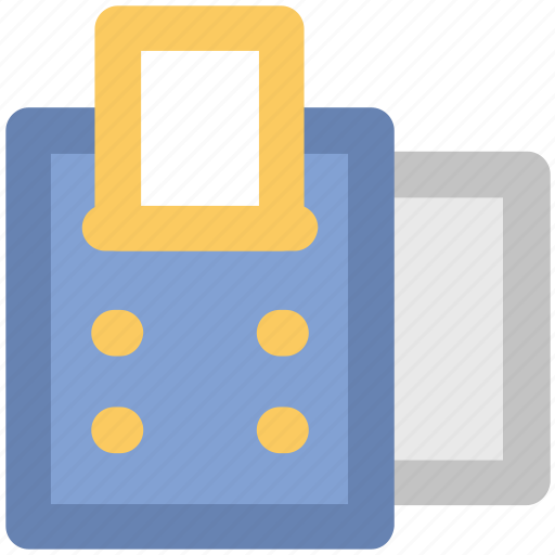 adding machine, banking, buying, finance, paying, receipt machine, shopping icon