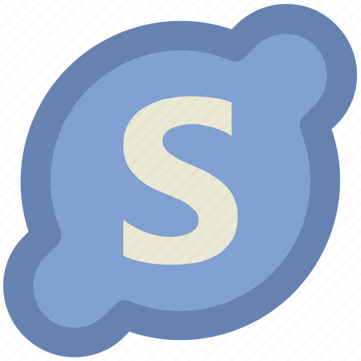 communication, skype, skype application, skype logo, software, technology, voip service icon