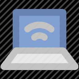 laptop, wifi, wireless concept, wireless fidelity, wireless network, wireless technology, wlan icon