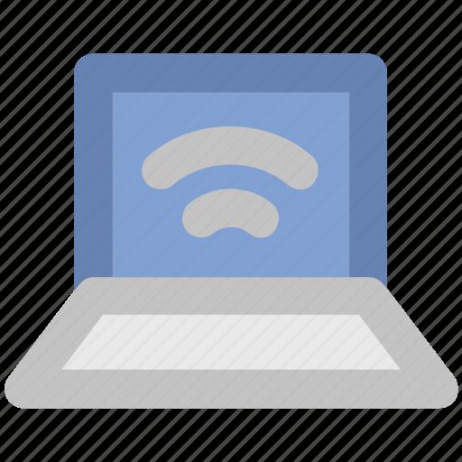 Laptop, wifi, wireless concept, wireless fidelity, wireless network, wireless technology, wlan icon - Download on Iconfinder