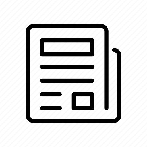 communication, connection, document, file, news, newspaper, paper icon