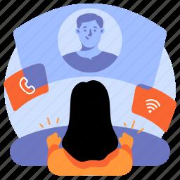 communication, video, call, media, multimedia, conversation, talk