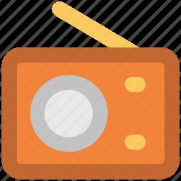 old radio, radio, radio antenna, radio set, technology, transmission icon