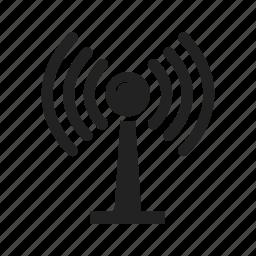 communication, internet, network, radio, signal, tower icon