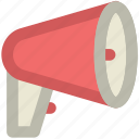 advertising, alert, announcement, audio, megaphone, music, sound