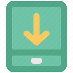 app, app downloading, appstore, download arrow, export, mobile, multimedia, networking icon