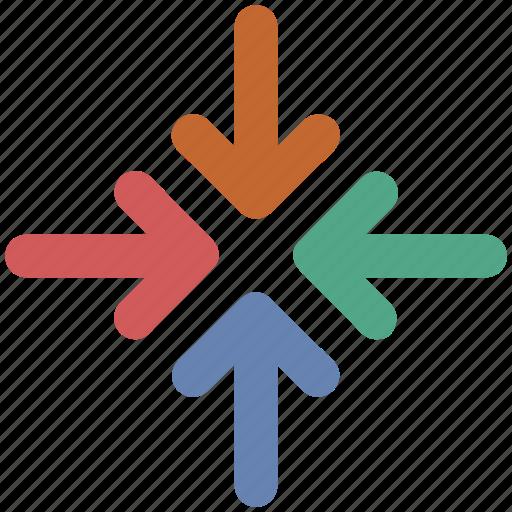 exit fullscreen, fullscreen, minimize, reduce, shrink icon