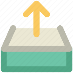 arrow, email arrow, letter, outgoing email, sent email icon