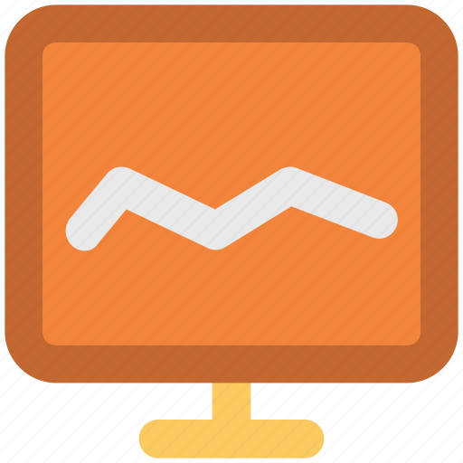 Analysis, analytics, chart, diagram screen, graph, graph screen, monitoring icon - Download on Iconfinder
