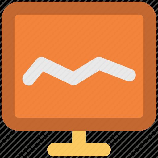 analysis, analytics, chart, diagram screen, graph, graph screen, monitoring icon