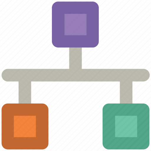 computing share, hierarchical, hierarchy, network, share, structure icon