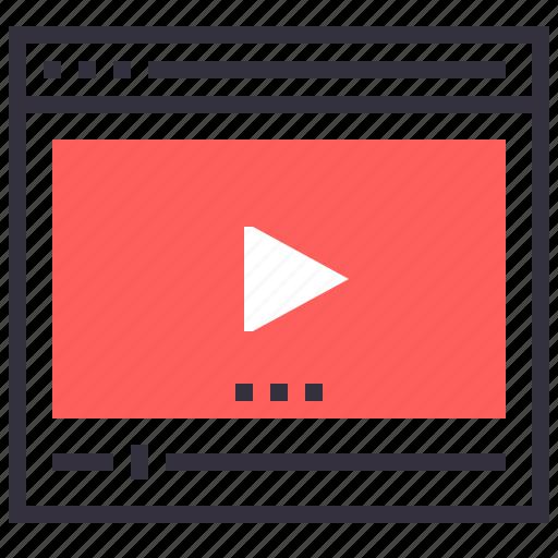 film, media, movie, multimedia, play, video, web icon