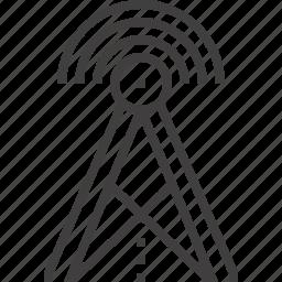 antenna, communication, internet, signal, tower, wifi, wireless icon