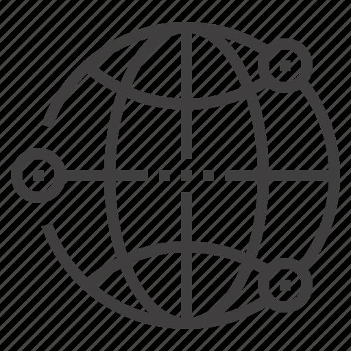 browser, communication, global, international, internet, network, world icon