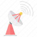 antenna, communication, dish, internet, satellite, signal, wireless icon