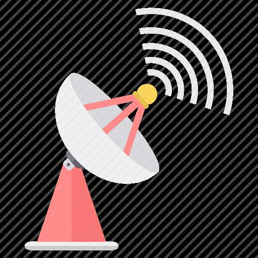 antenna, communication, dish, internet, satellite, signal, wireless icon