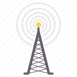 communication, connection, media, network, signal, tower, wireless icon