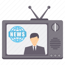 antenna, channel, communication, media, news, television, tv icon