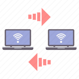 computer, connection, internet, network, share, sharing, wifi icon