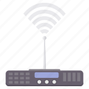 internet, media, network, router, signal, tower, wifi icon