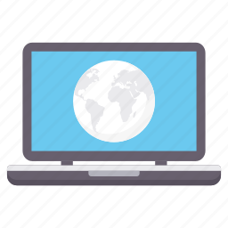 cloud, forecast, laptop, moon, night, wallpaper icon