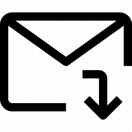 business, communication, down, email, letter, message, talk icon