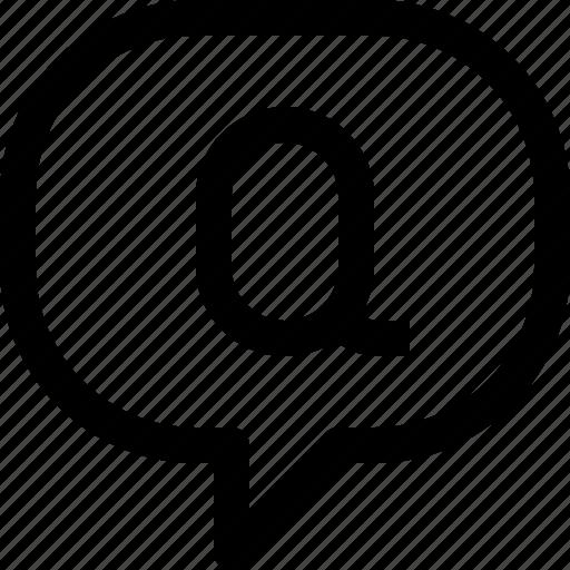 bubble, business, communication, message, question, speech, talk icon