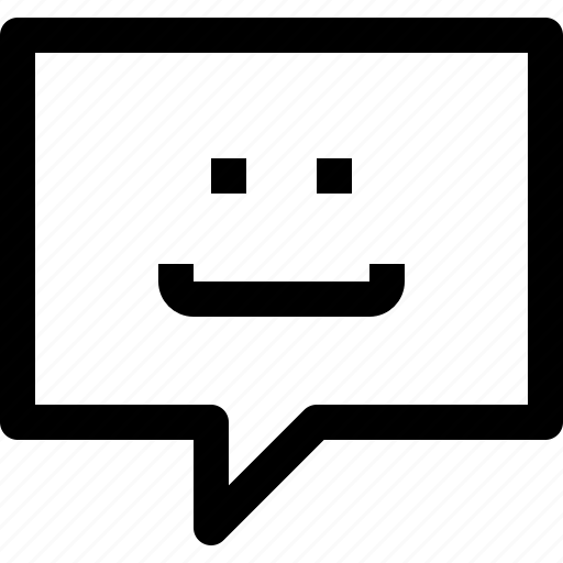 bubble, business, communication, message, smile, speech, talk icon